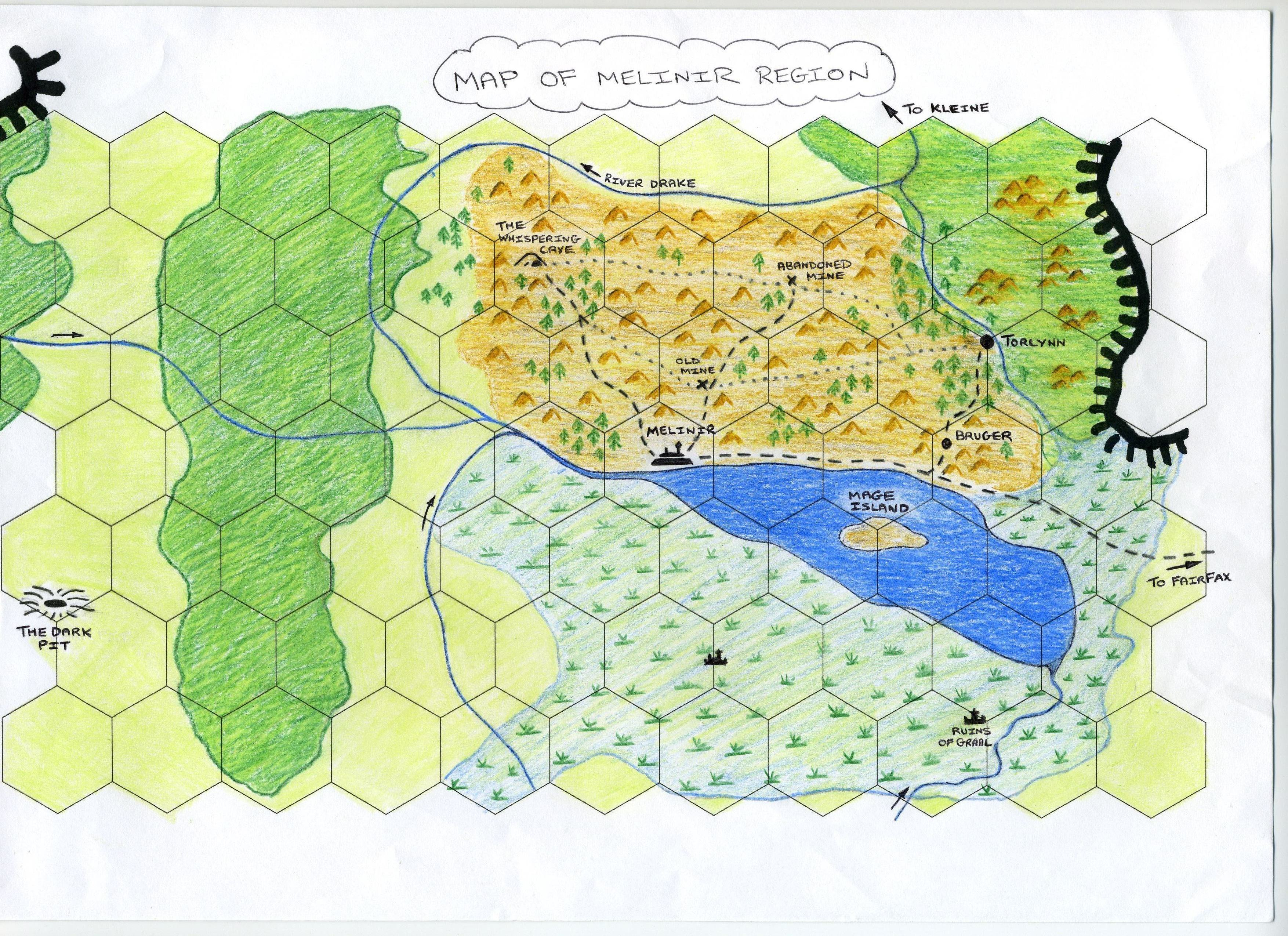 Map of the melinor region to draw the map i placed a clear hexagonal each hex was one inch template over the official map which aided me in making the map accurate in scale gumiabroncs Gallery
