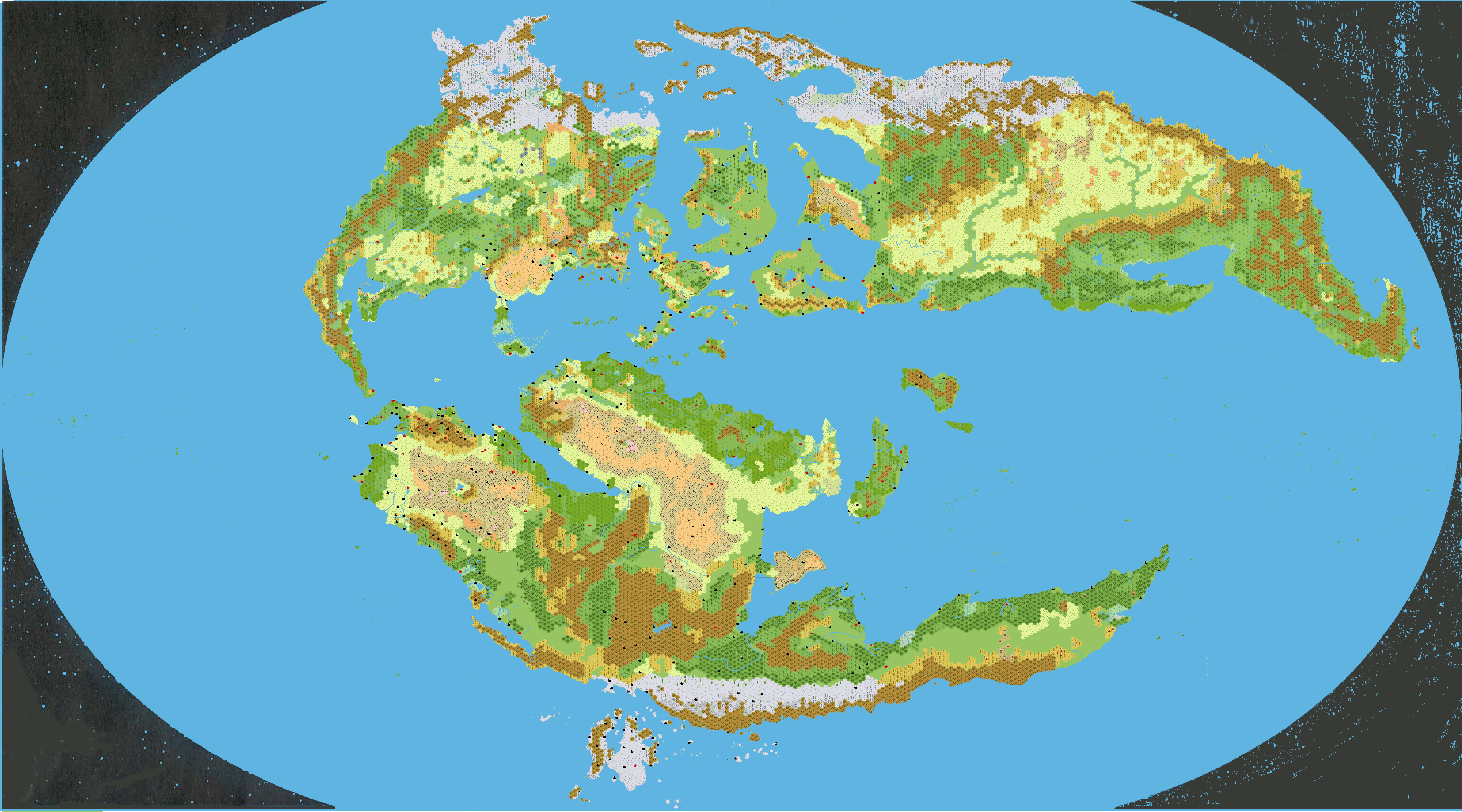 Mystara outer world 1000 ac 72 miles per hex this is a map of mystara in 72 miles per hex the existing canon maps at this scale were the primary source and the map was modeled mainly on them gumiabroncs Images