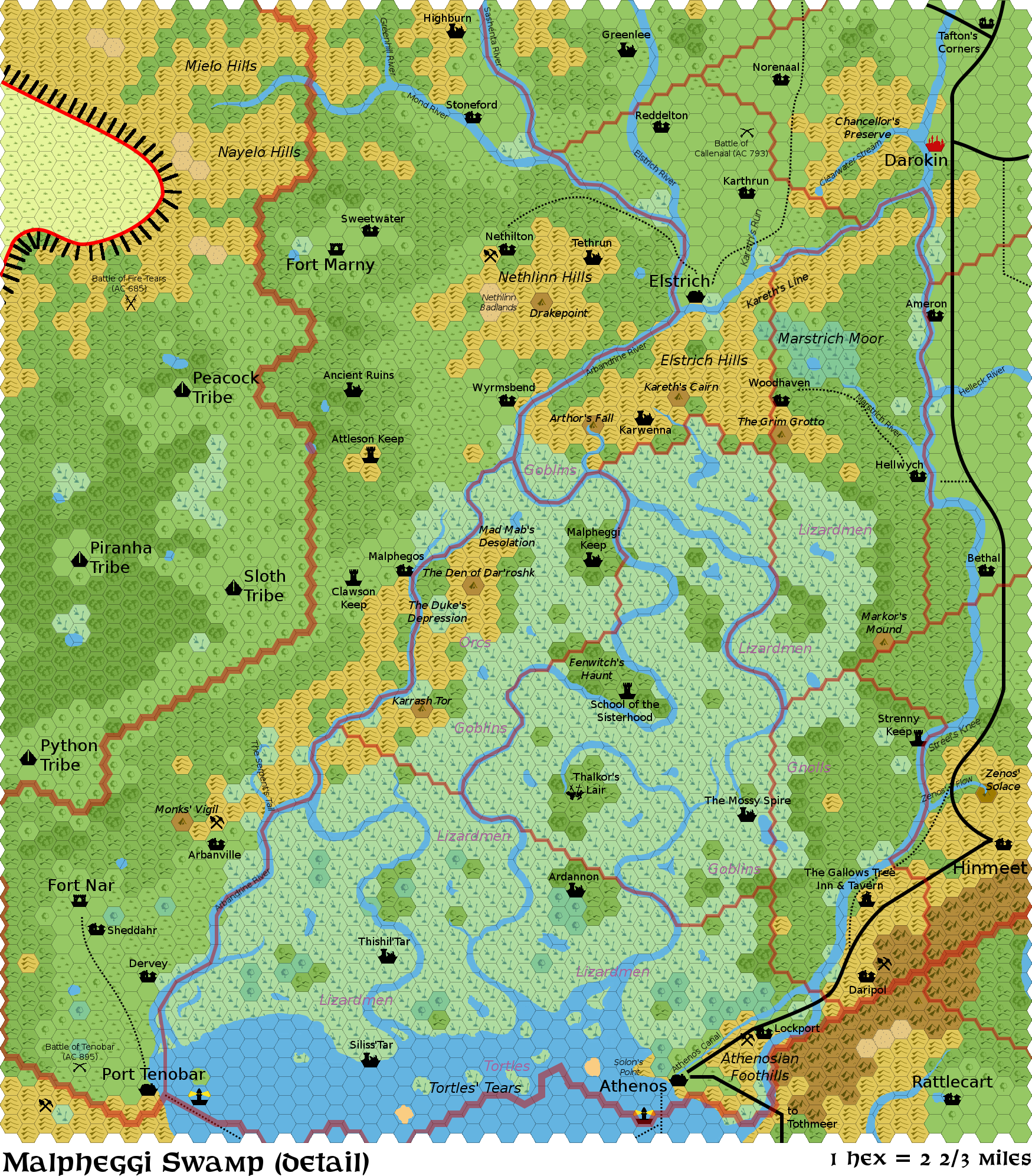 Mapping Around Malpheggi Swamp