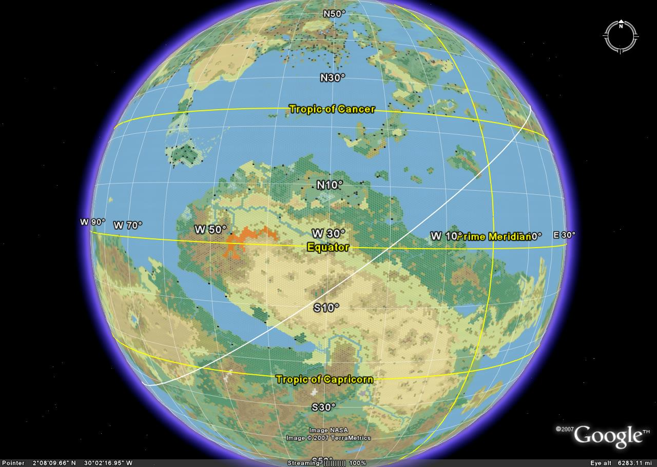 Google mystara this one shows the region where the two equators intersect it is very possible that the aryptian basin was once a rain forest like the amazon gumiabroncs Images